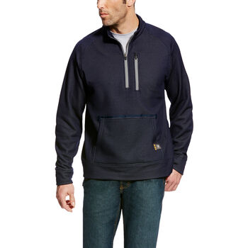 Rebar Mesh Fleece 1/4 Zip Sweatshirt