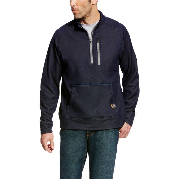 Rebar Mesh Fleece 1/4 Zip Sweatshirt