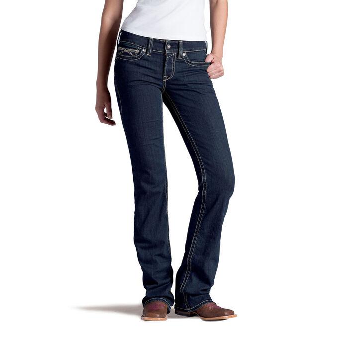 R.E.A.L. Mid Rise Chainlink Boot Cut Jean