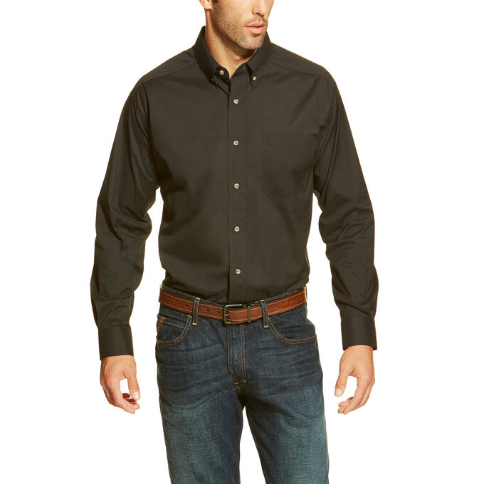 Solid Poplin Performance Shirt