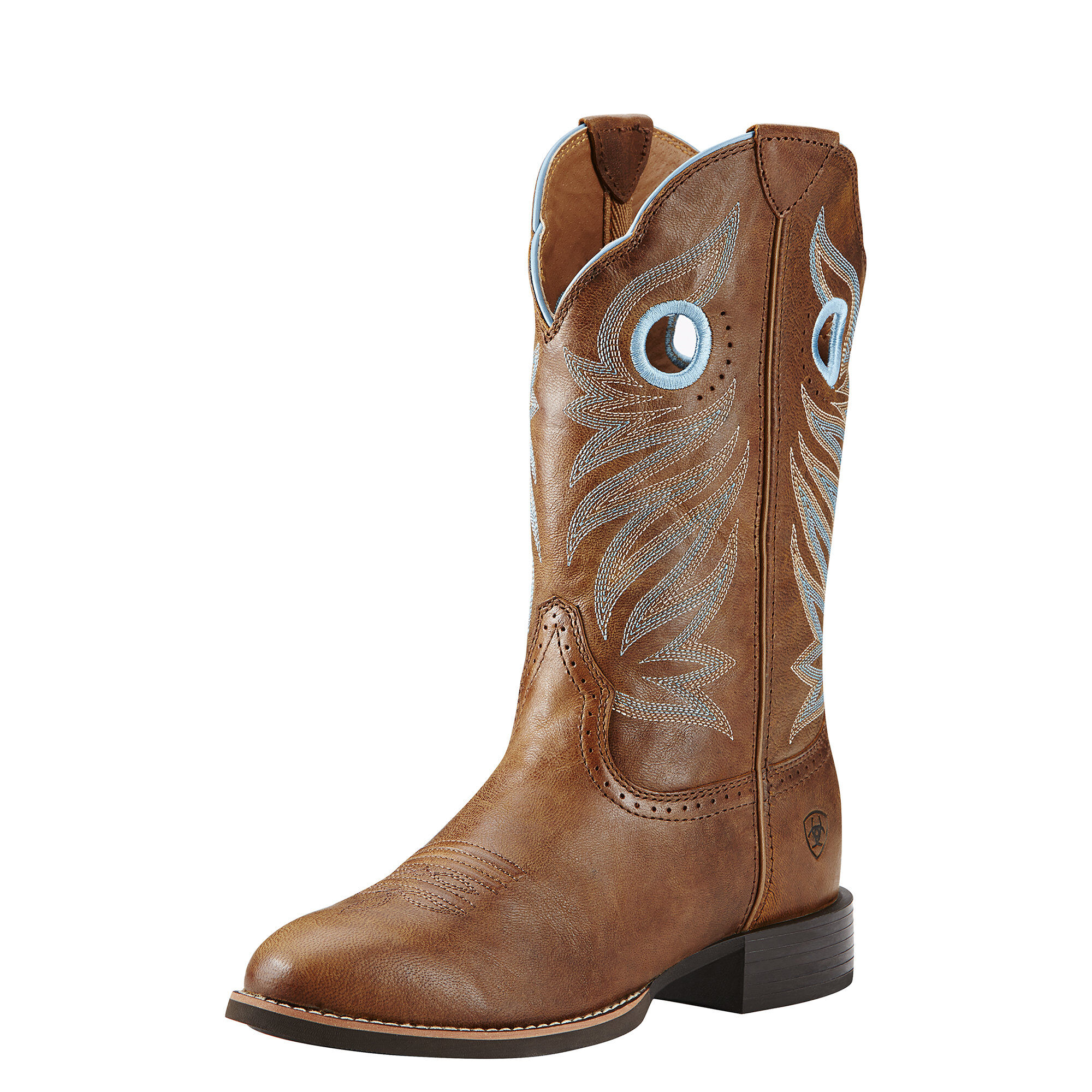 Round Up Stockman Western Boot