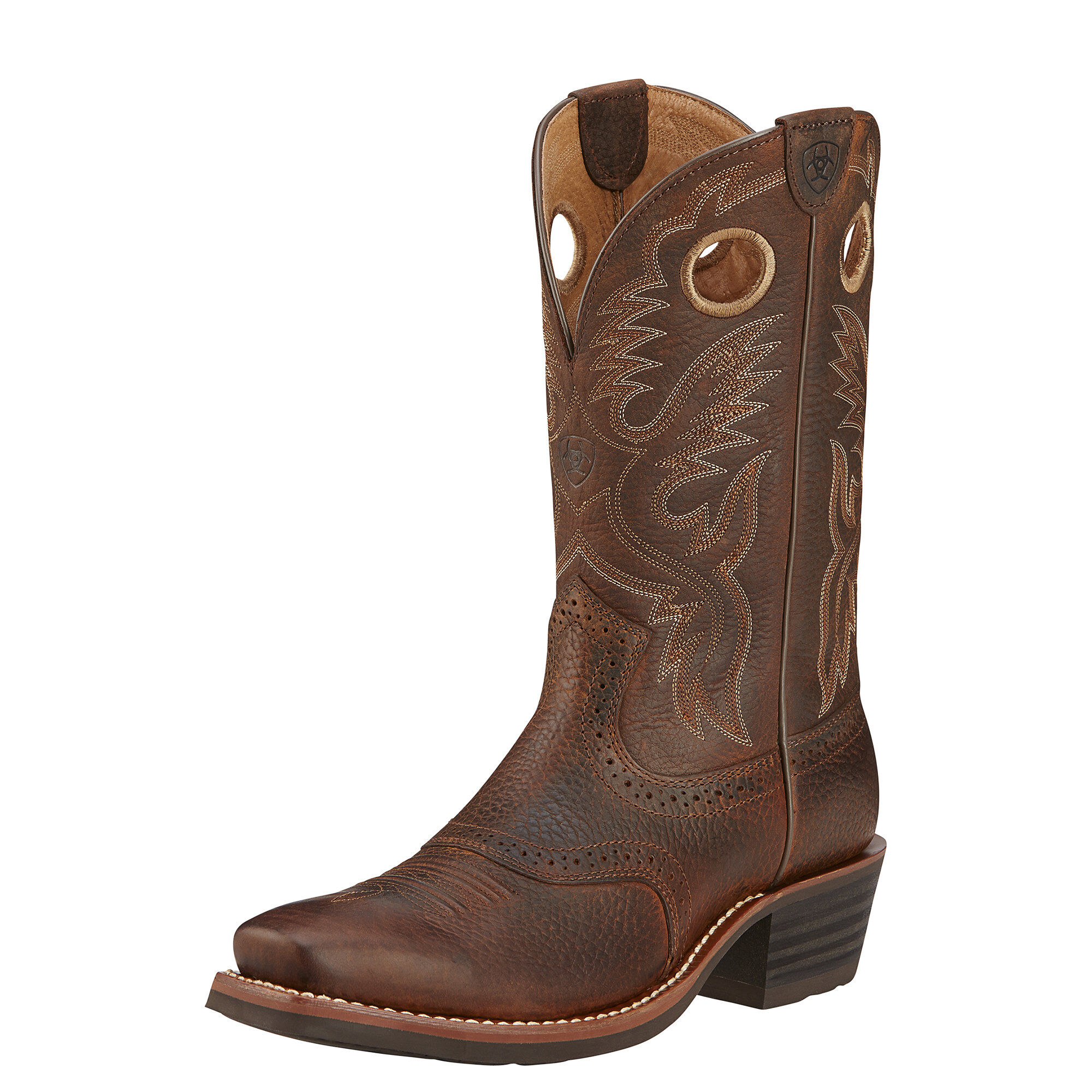 Womens Boots ariat brown heritage roughstock oiled rowdy vb8r44h4