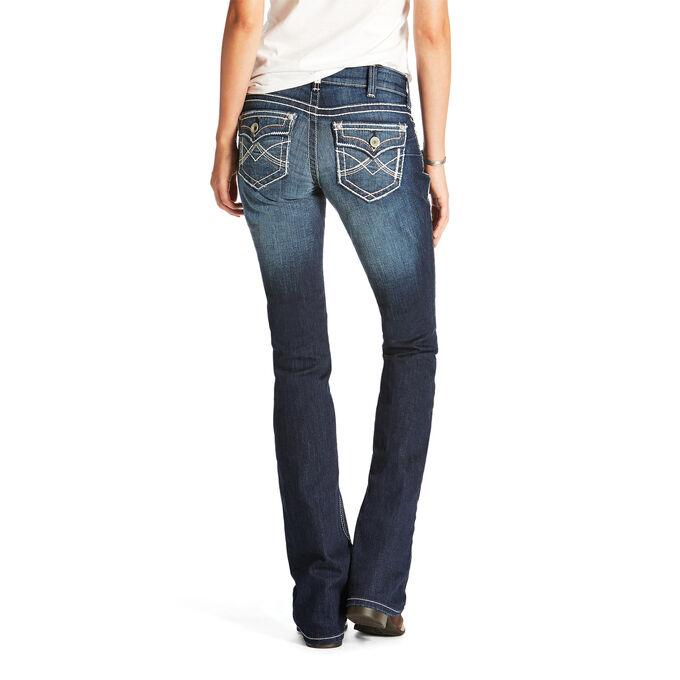R.E.A.L Mid Rise Dakota Boot Cut Jean