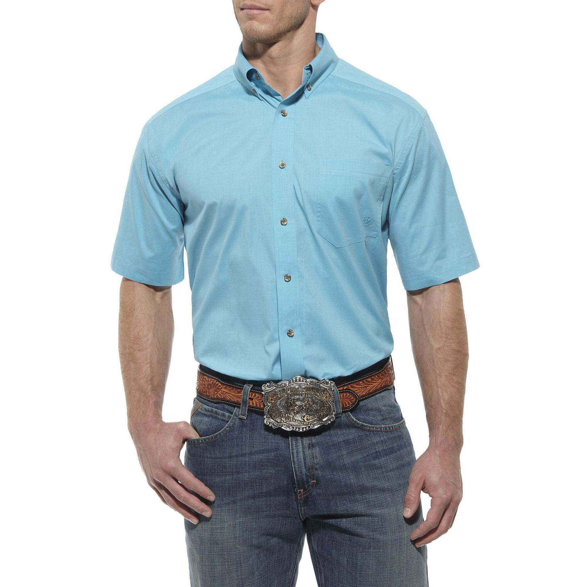 Solid Poplin Perf SS Shirt