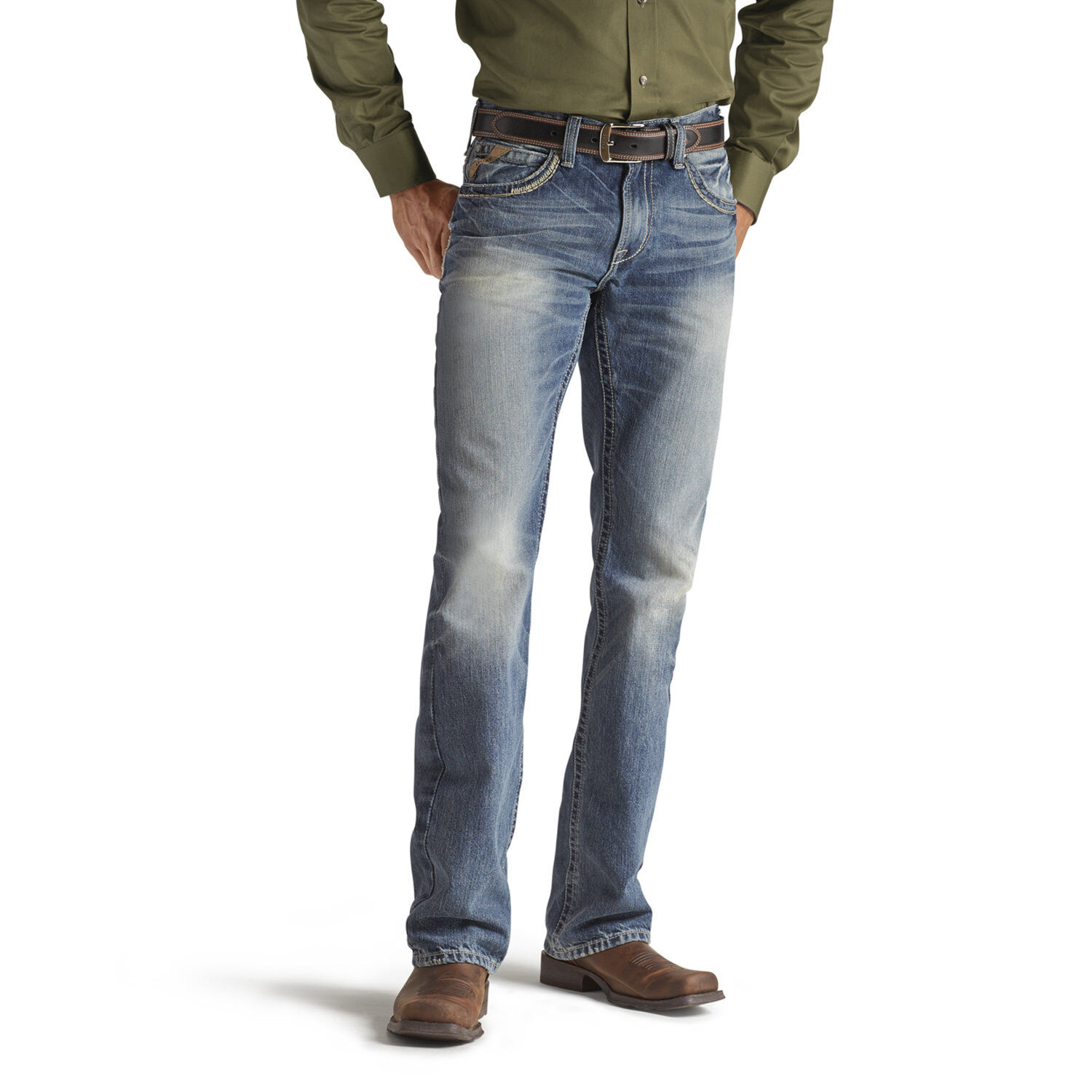 Mens bootcut jeans 40 x 36