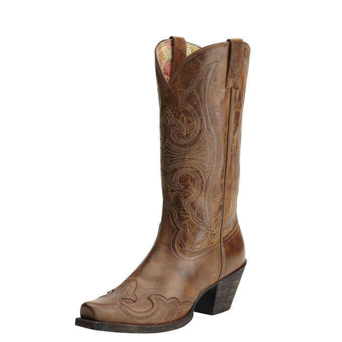 Round Up D Toe Wingtip Western Boot