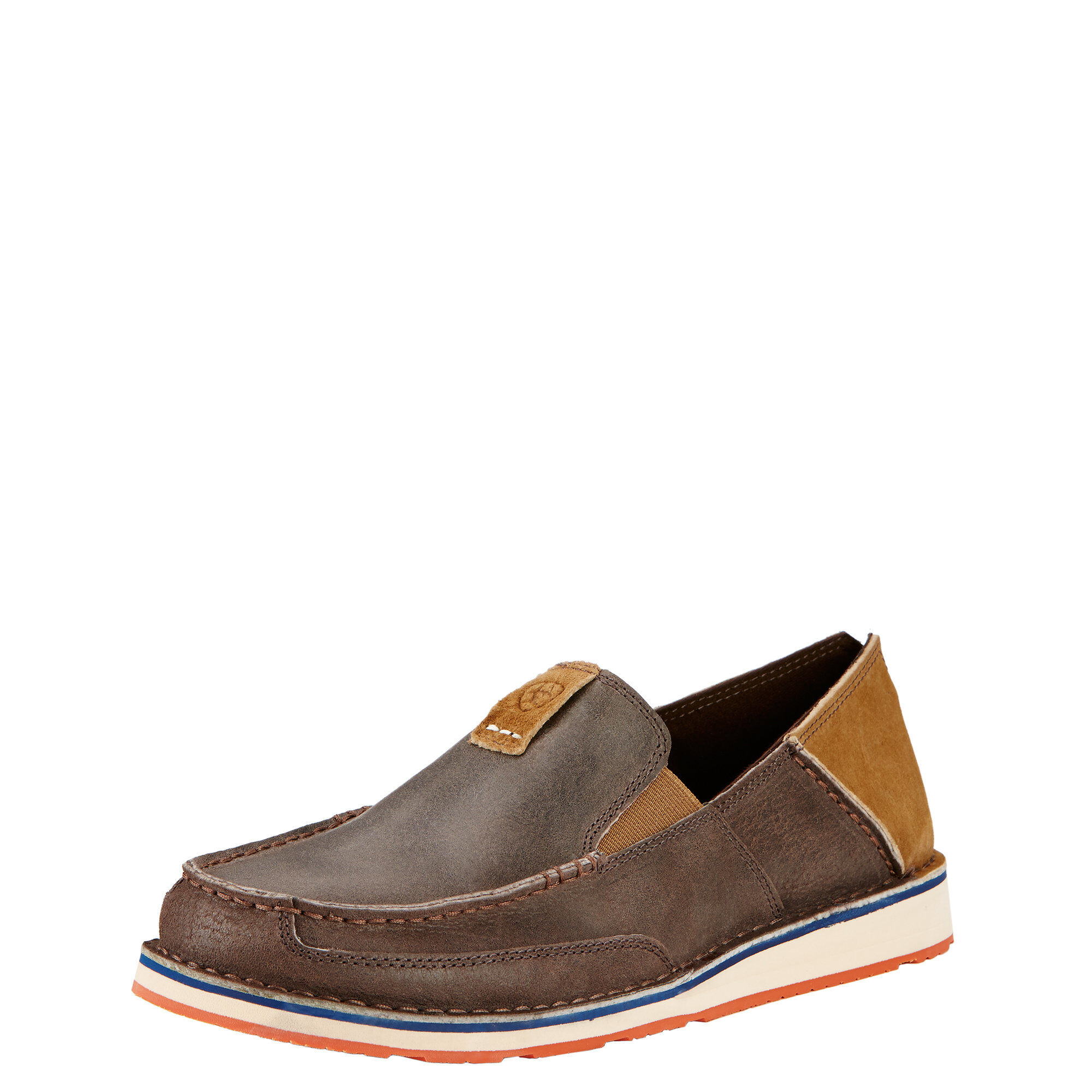 Ariat English Cruiser Loafer(Women's) -Chocolate/Seaport Shoes Suede Best Store To Get PLjSZBvk
