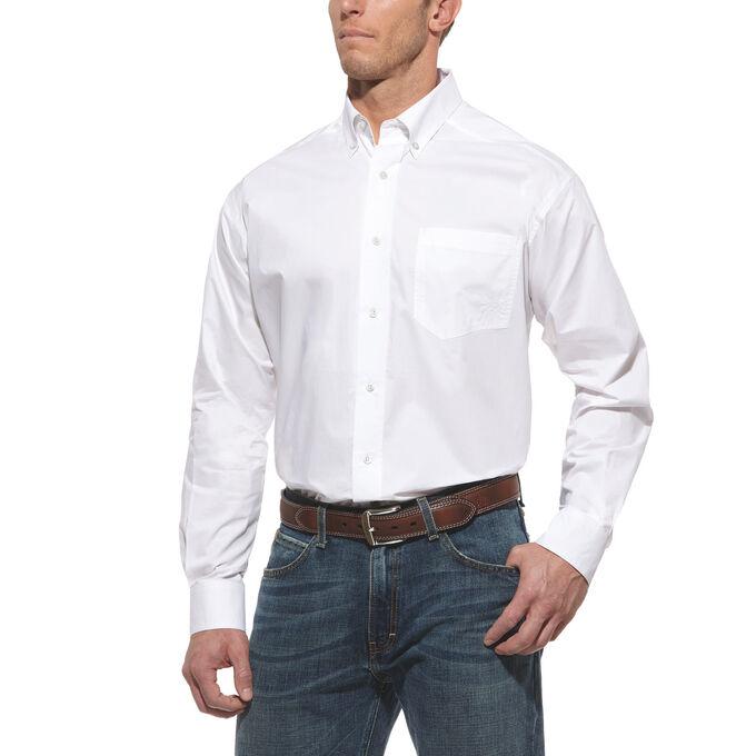 Solid Poplin Performance Shirt