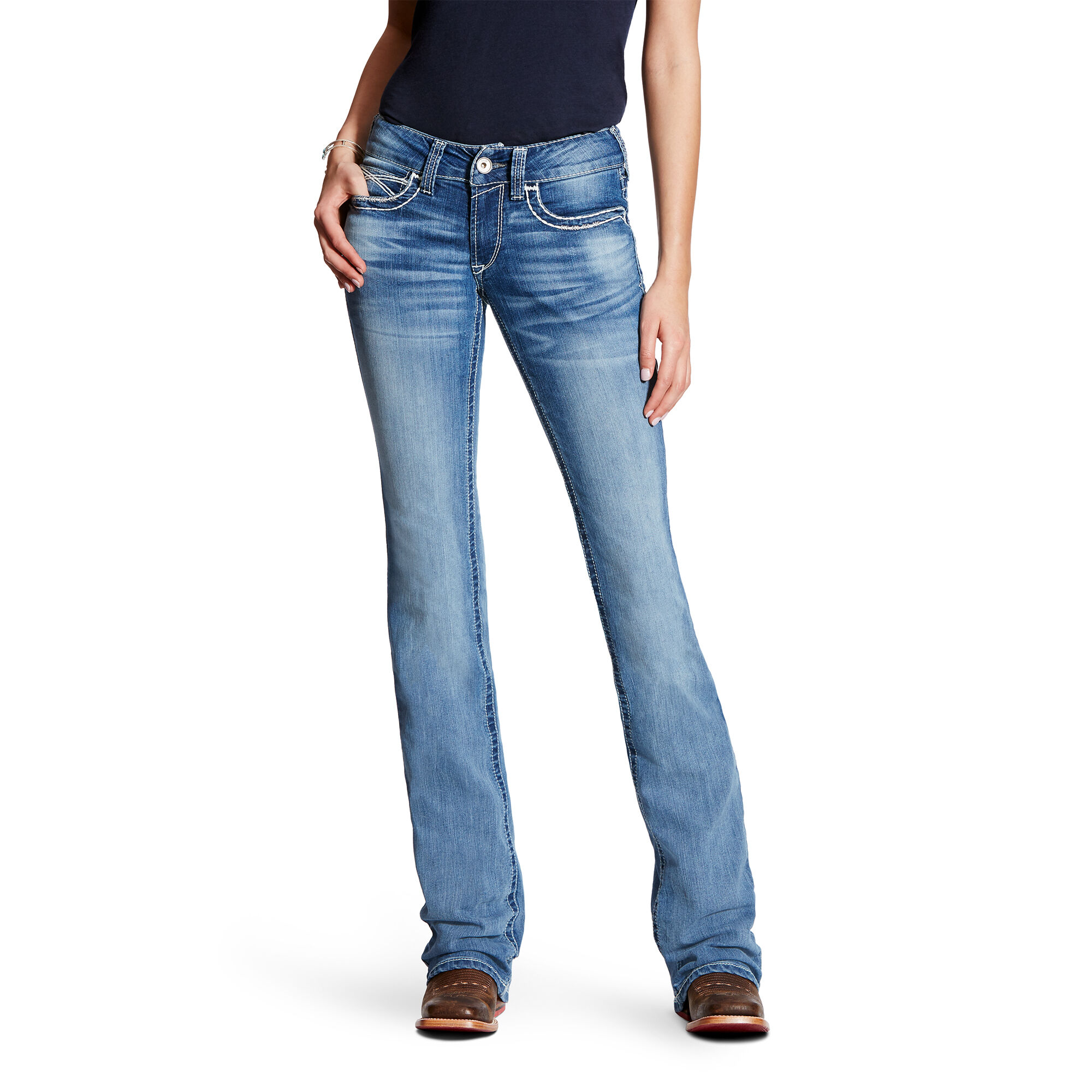 R.E.A.L Mid Rise Heirloom Boot Cut Jean