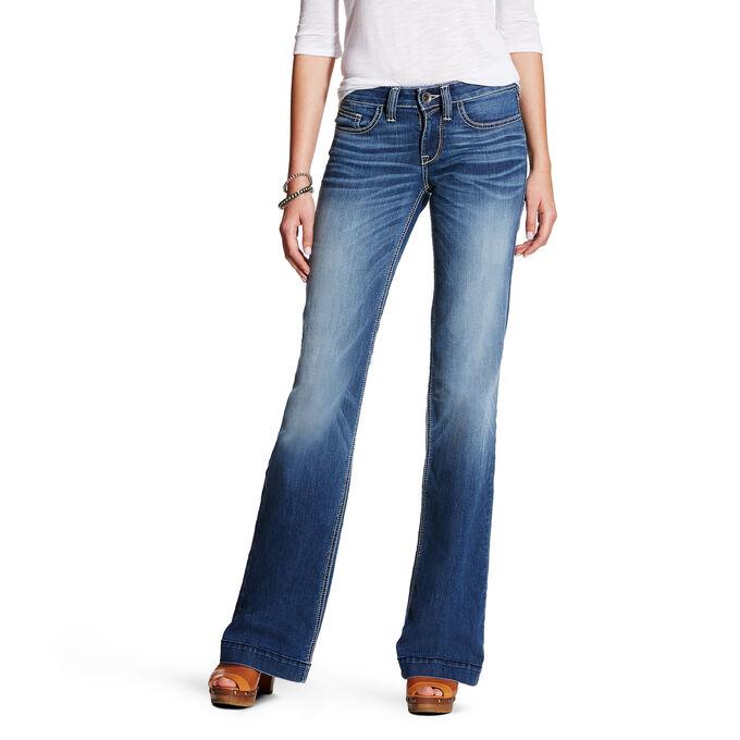 Baseball Stitch Wide Leg Trouser Jean
