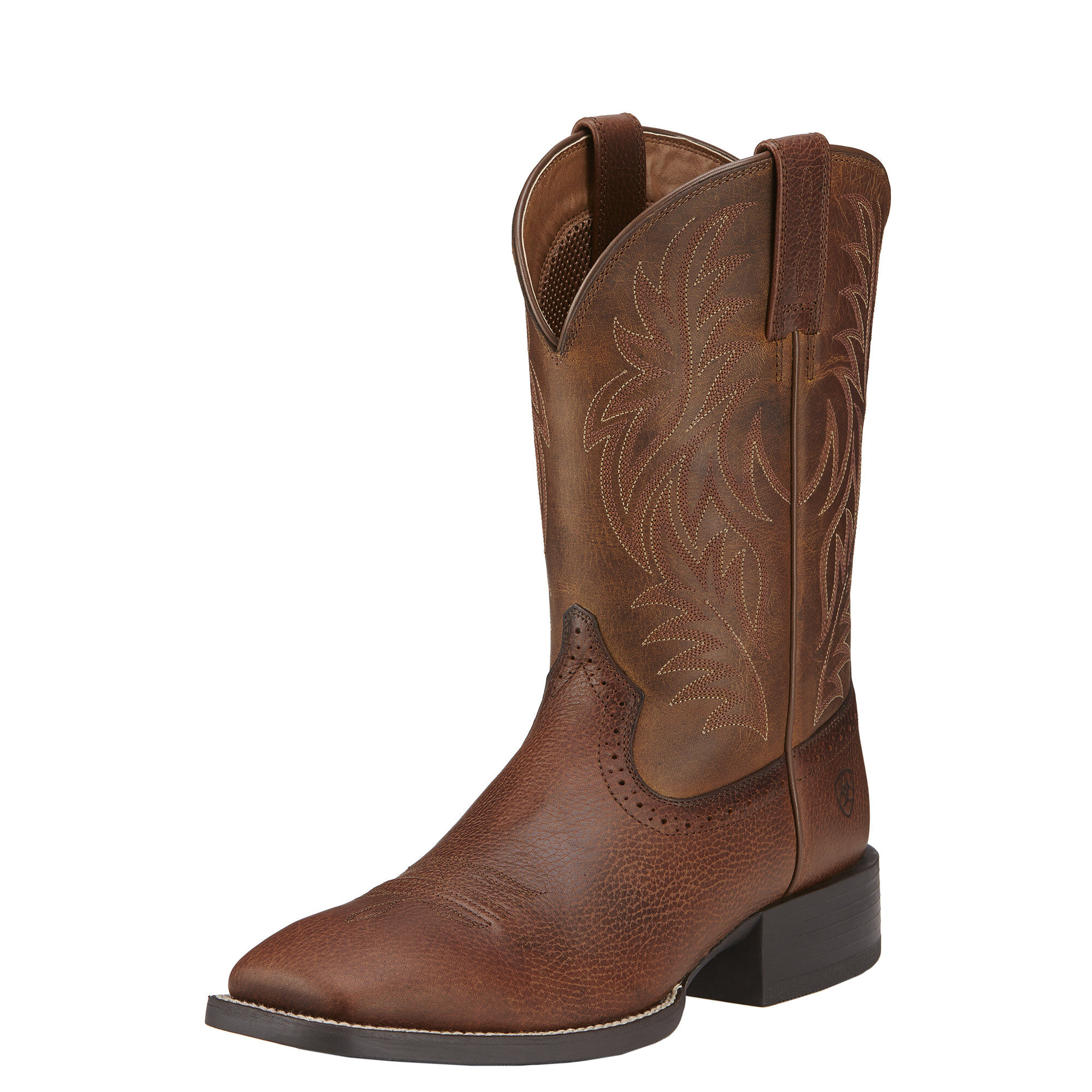 Ariat Sport Rider Wide Square Toe Cowboy Boot(Men's) -Chocolate/Black Full Grain Leather Shop For Online Ni4SwUEI