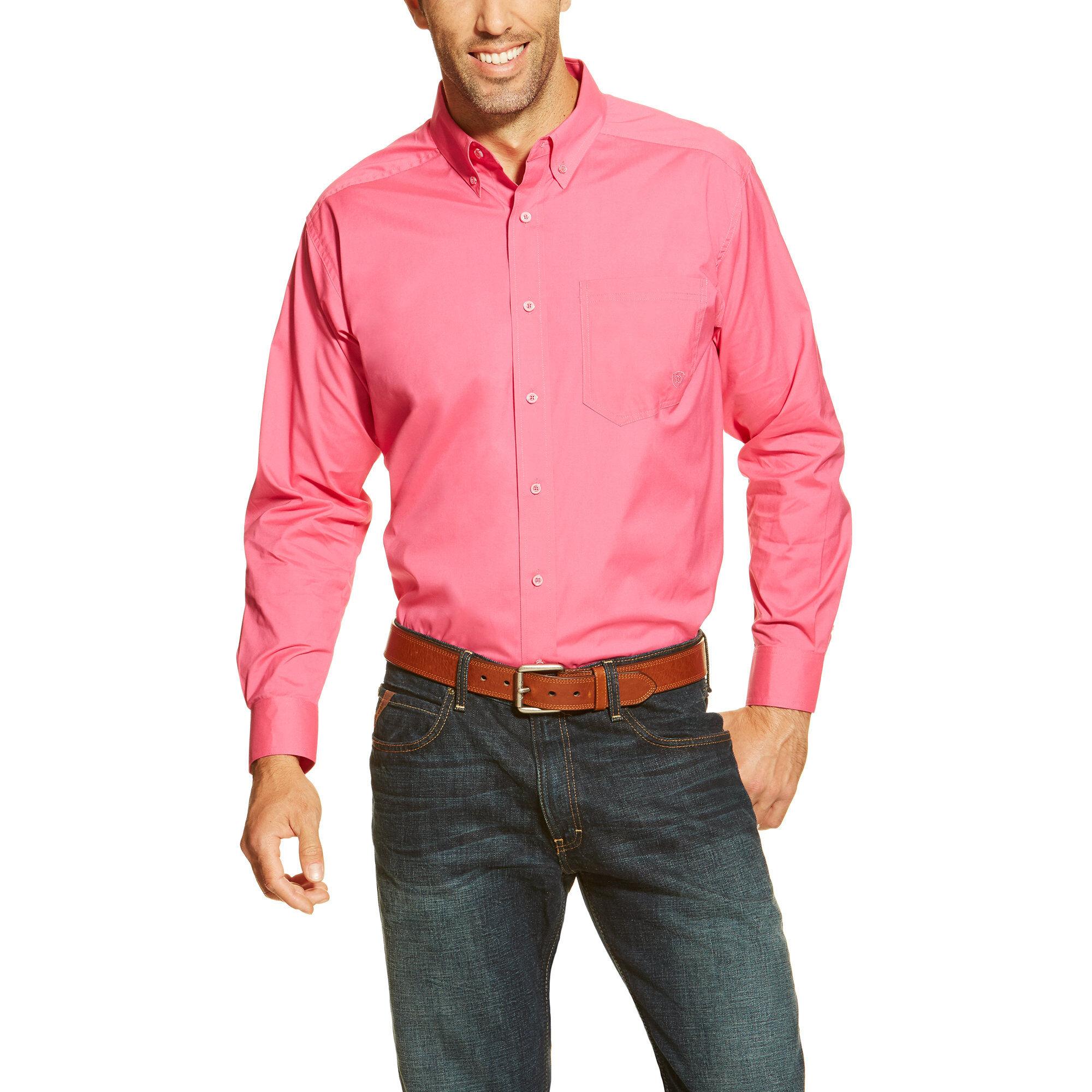 Solid Poplin Perf LS Shirt