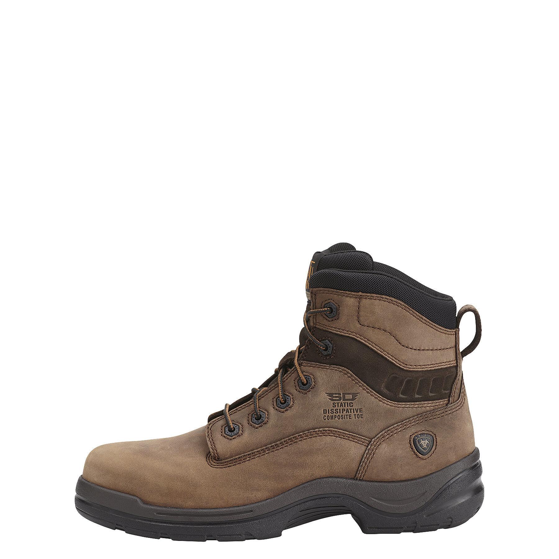 Men's Ariat Flexpro SD Composite Toe, Size: 7 D, Alamo Brown Full Grain Leather