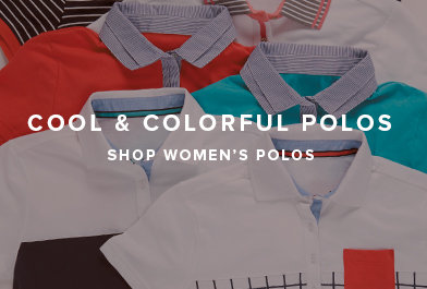 Cool & Colorful Polos - Shop Women's Polos