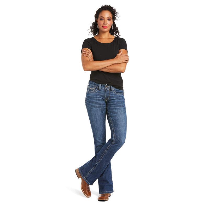 R.E.A.L Mid Rise Liliana Boot Jean