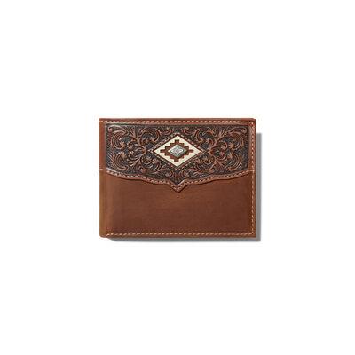 Diamond Emboss Brown Bifold Wallet