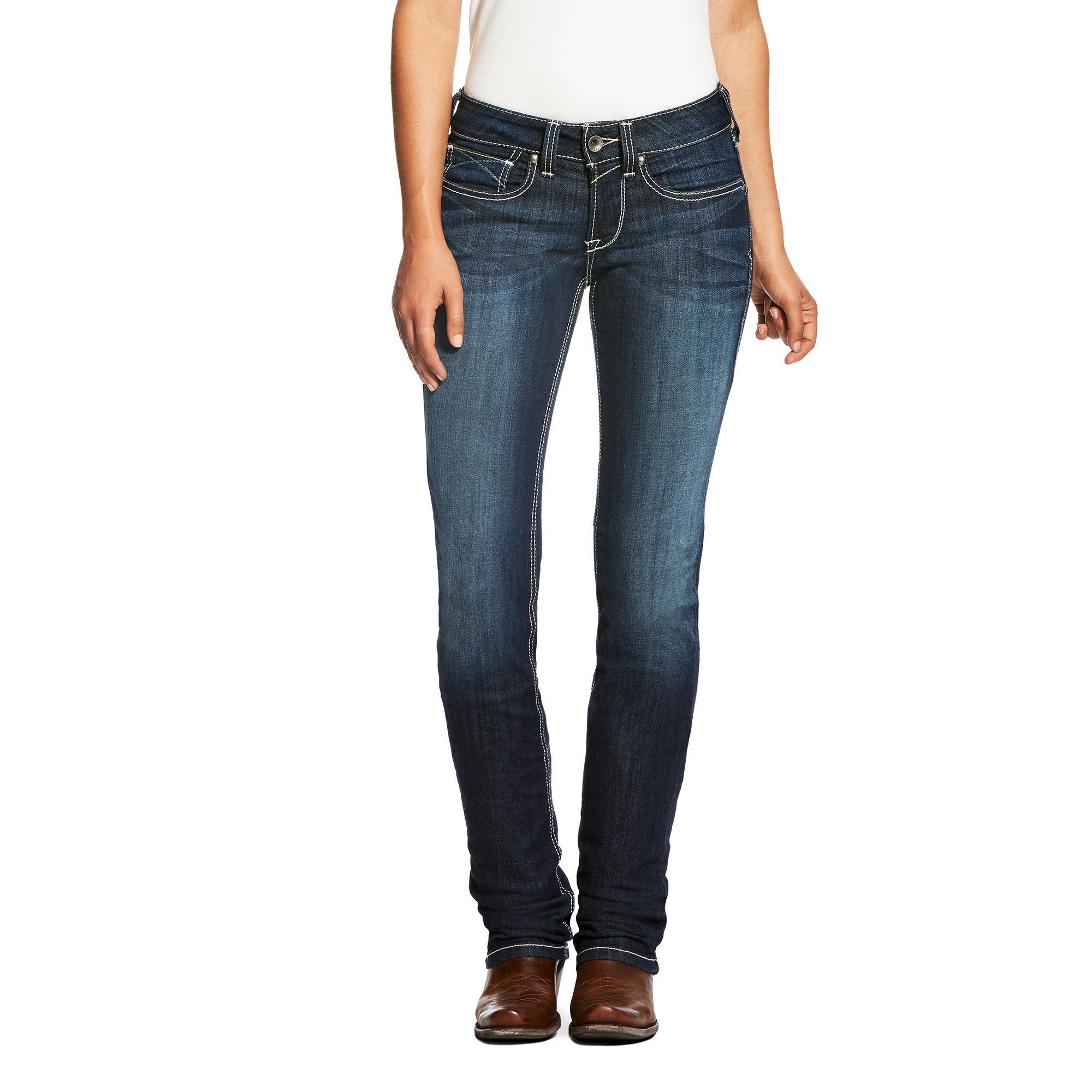R.E.A.L Mid Rise Ella Stackable Straight Leg Jean