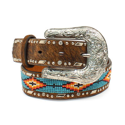 Southwest Beaded Hair-On Belt