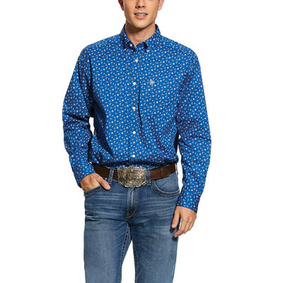 Gates Print Stretch Classic Fit Shirt