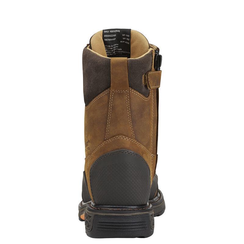 """OverDrive XTR 8"""" Side Zip Steel Toe Work Boot"""