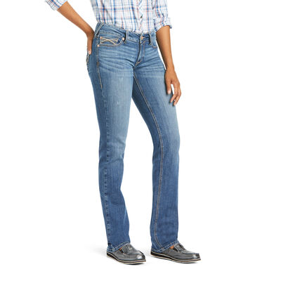 R.E.A.L. Mid Rise Arrow Fit Elissa Stackable Straight Leg Jean