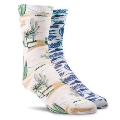Arid Landscape Crew Sock 2 Pair Multi Color Pack