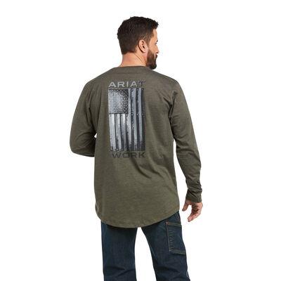 Rebar Workman Alloy Flag Graphic T-Shirt