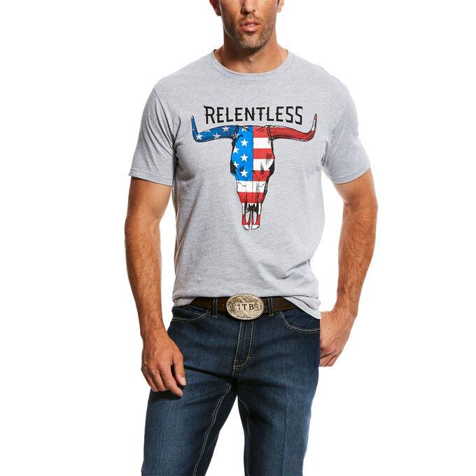 Relentless American Flag Skull T-Shirt