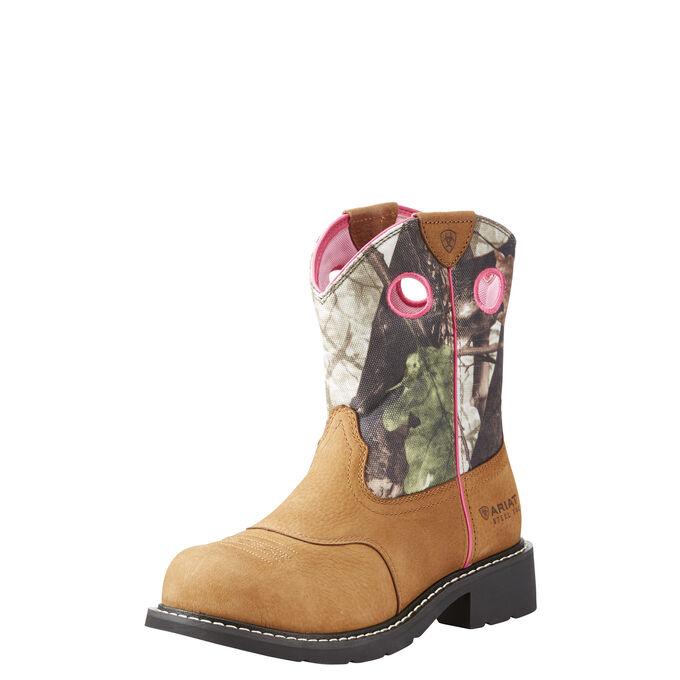 Women's Camo Western Steel Toe Work Boot