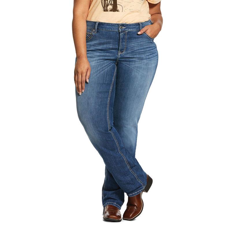 R.E.A.L. Mid Rise Stretch Presley Stackable Straight Leg Jean