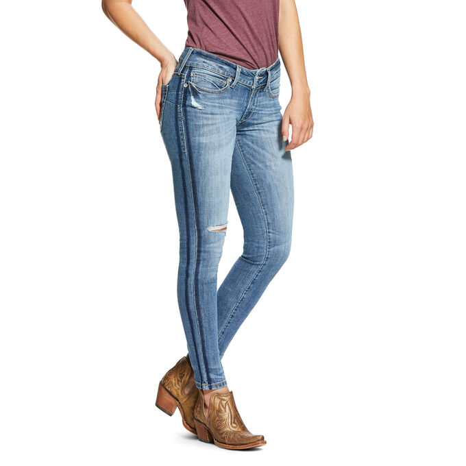 R.E.A.L. Mid Rise Stretch Ella Dbl Outseam Skinny Jean