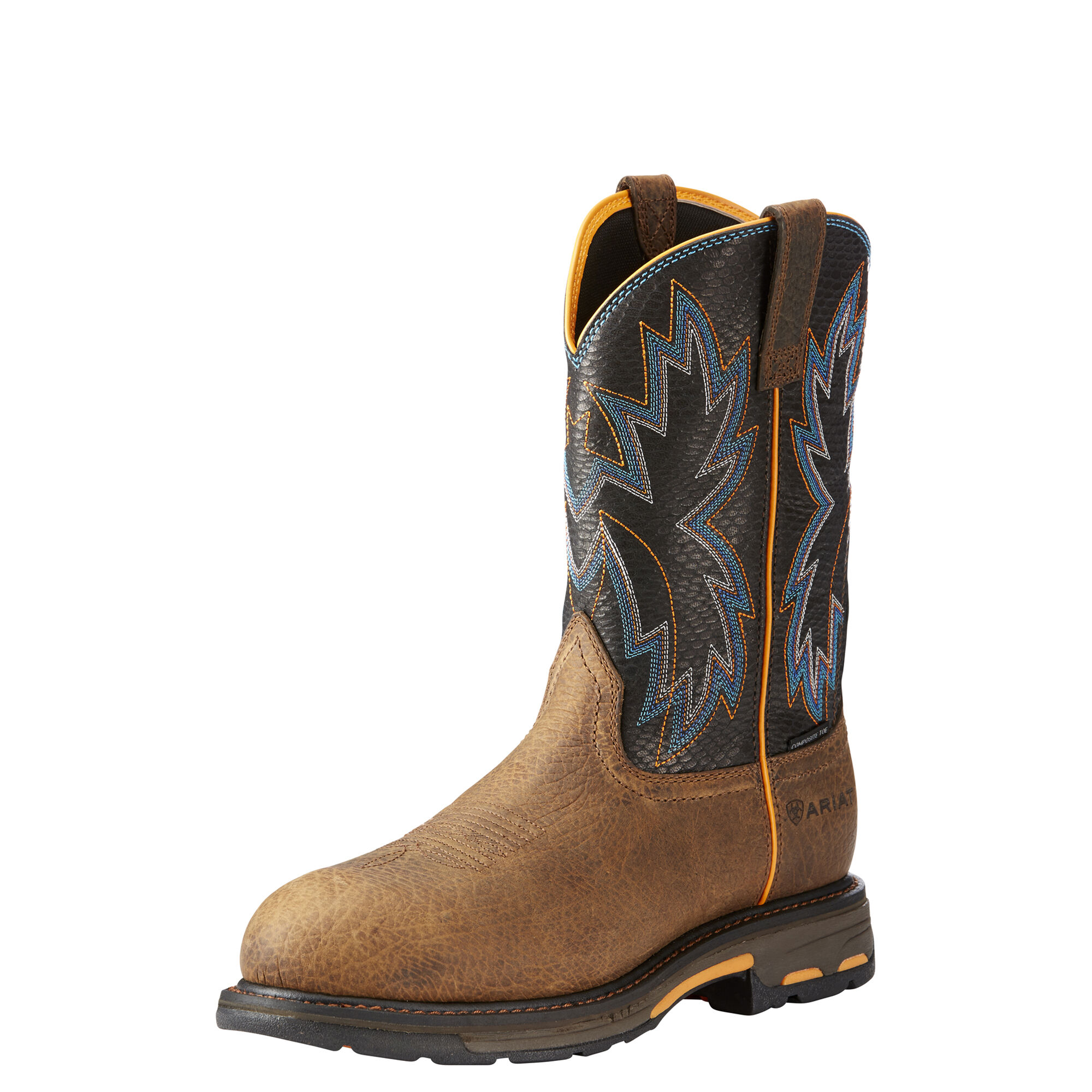 Men's Ariat Workhog Raptor Work Boot, Size: 14 D, Earth Leather