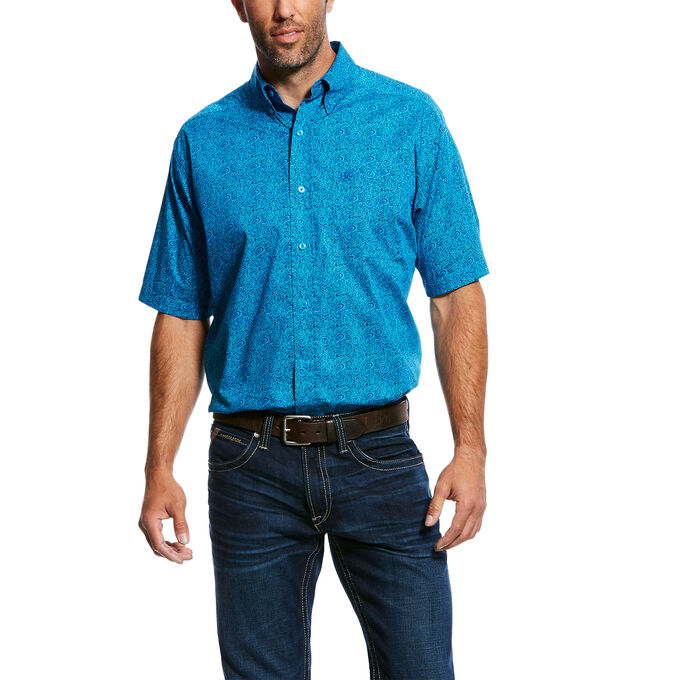 Noel SS Stretch Print Shirt