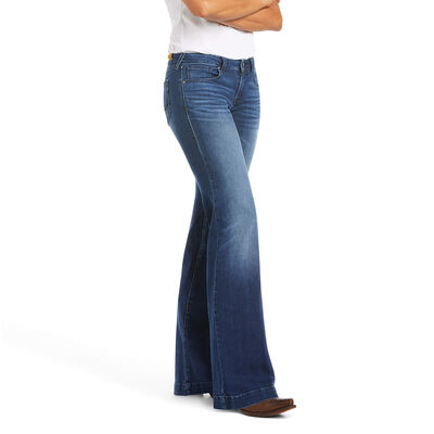 Trouser Mid Rise Stretch Kelsea Wide Leg Jean