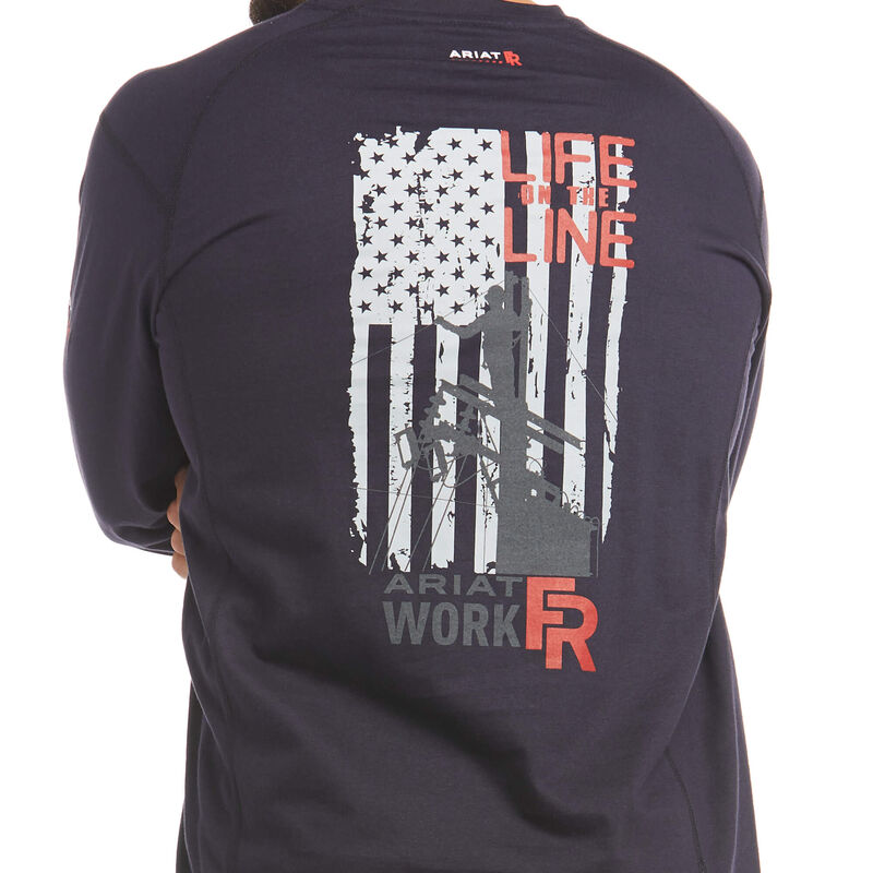FR Air Life on the Line Graphic Top