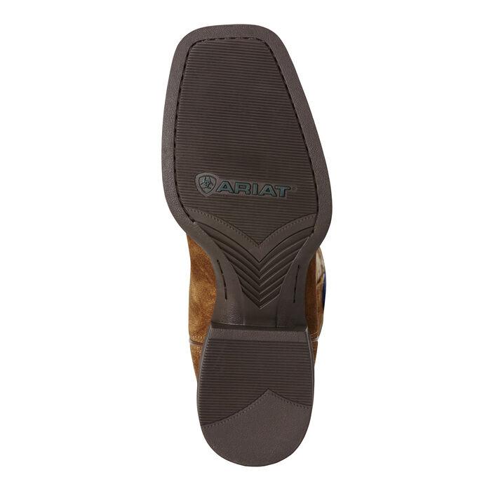 Men's Brown Camo American Flag Cowboy Boot