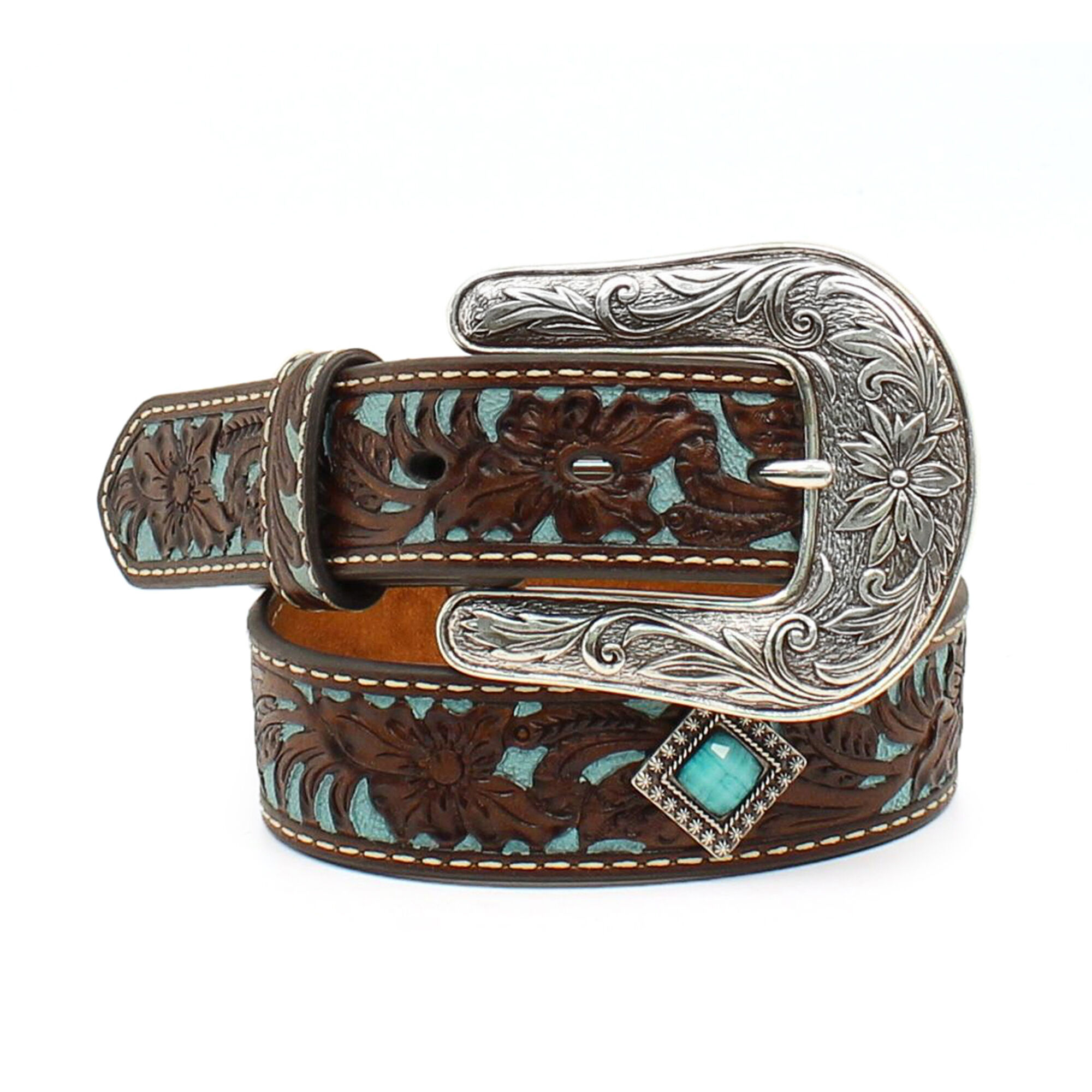 Fancy Tooled Overlay Belt
