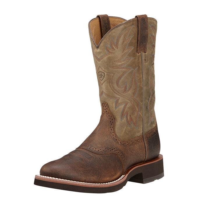 Men's Tan and Brown Cowboy Boots
