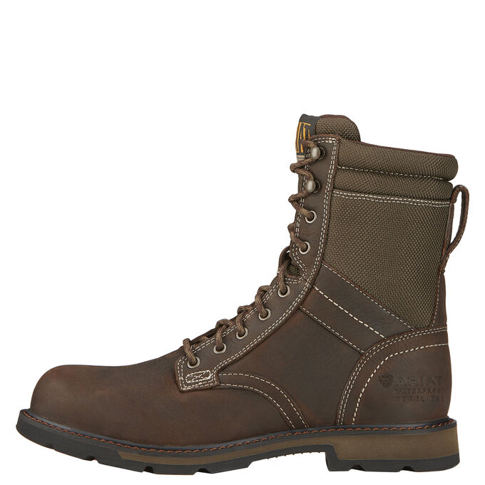 "Groundbreaker 8"" Waterproof Steel Toe Work Boot"