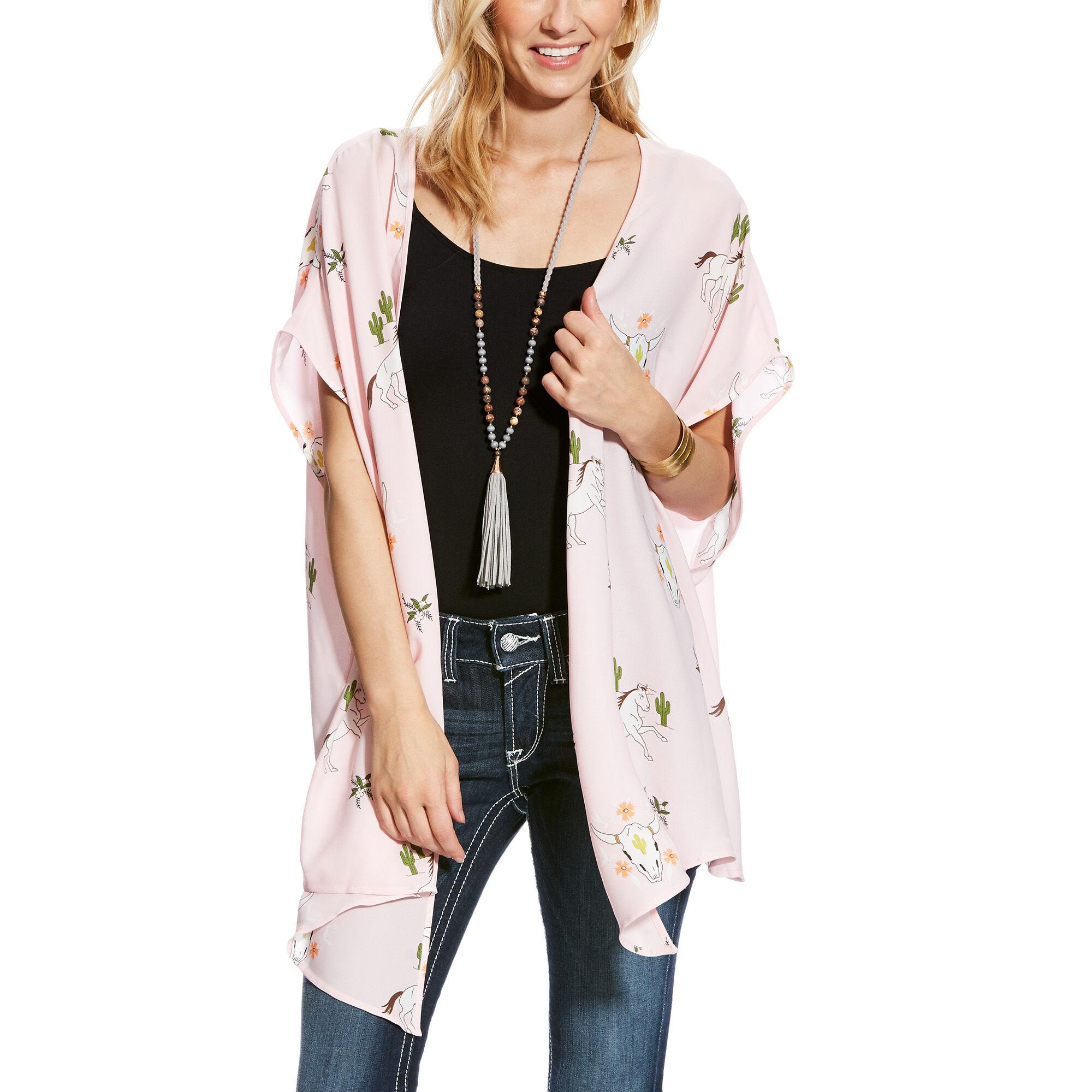 Relentless Western Print Kimono Wrap