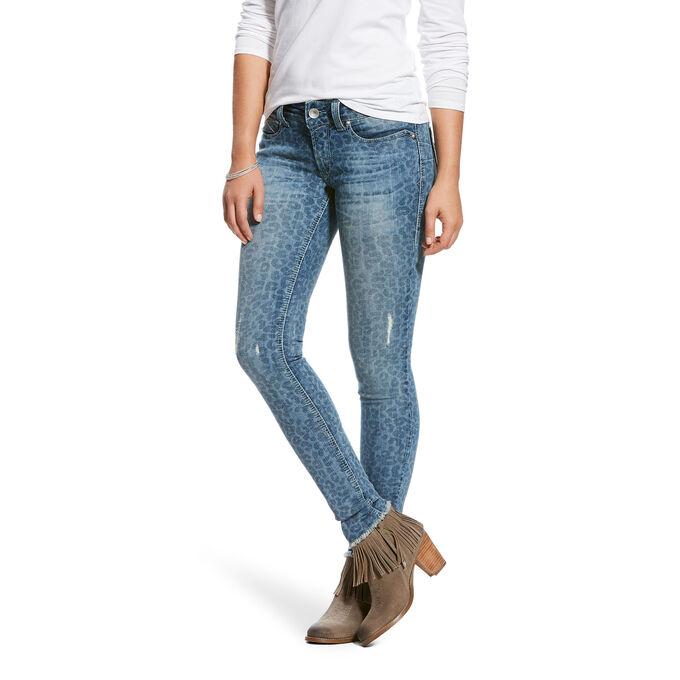 R.E.A.L Mid Rise Leopard Skinny Jean