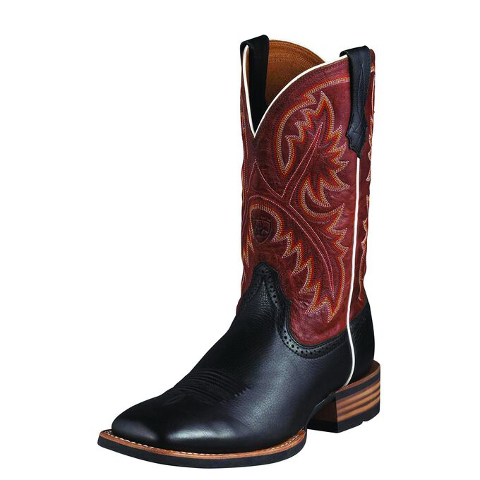 Mens Black and Red Cowboy Boots