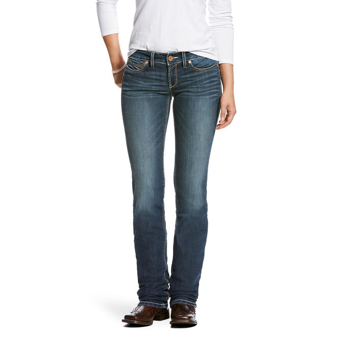REAL Low Rise Handcrafted Stackable Straight Leg Jean