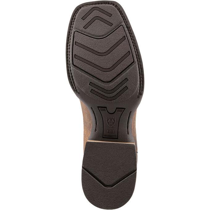 Men's Light Brown and Black Cowboy Boots