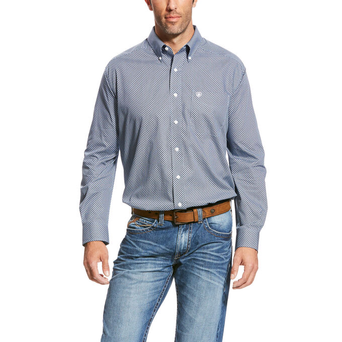 Wrinkle Free Quarterman Shirt
