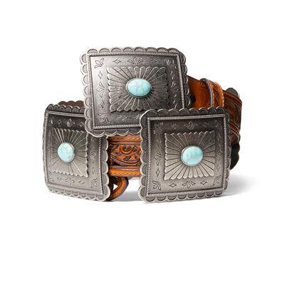 Turquoise Burst Concho Belt