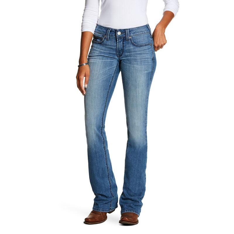 R.E.A.L. Mid Rise Stretch Shawna Boot Cut Jean