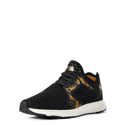 BLACK WITH GOLD PRINT