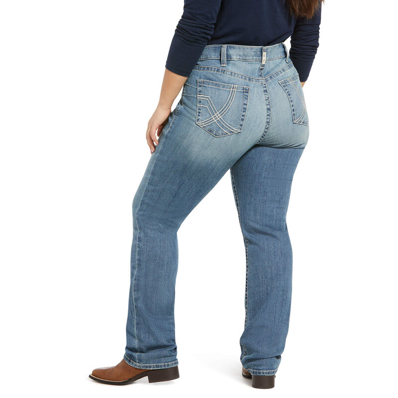 R.E.A.L. Mid Rise Stretch Whitney Stackable Straight Leg Jean