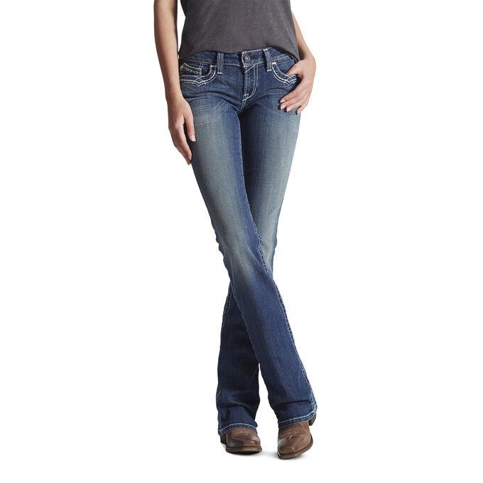 Women's Western Bootcut Jeans - Medium Wash Fade